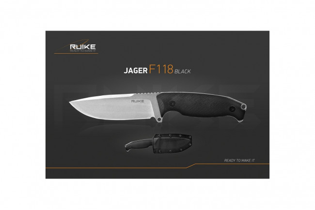 Couteau Ruike F118B Jager Noir - 223mm