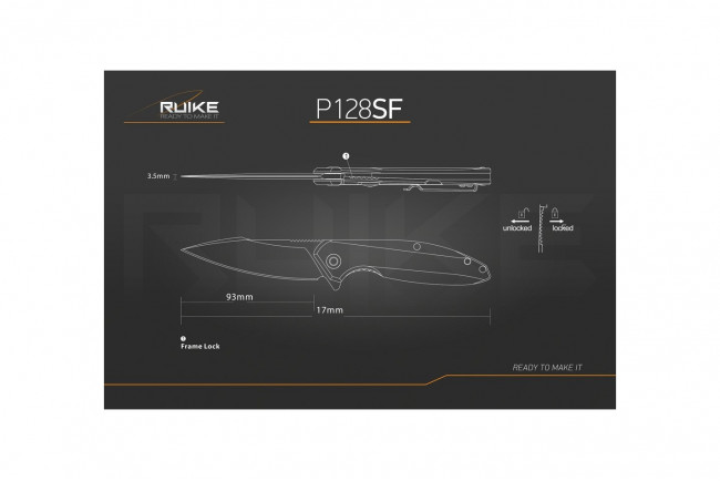Ruike P128SF - Couteau 217mm