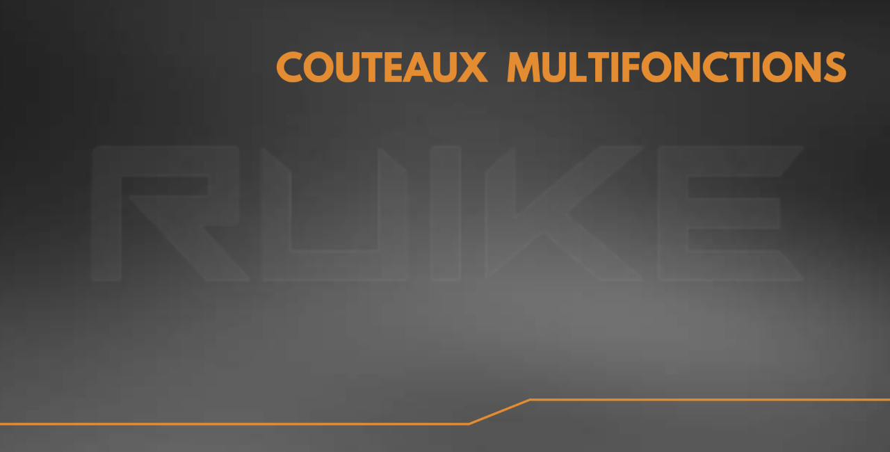 Couteaux multifonctions Ruike